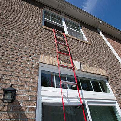 KIDDE<sup>®</sup> Escape Ladder - Be prepared for an emergency with this two story, 13-foot escape ladder.  Fits most standard size windows, attaches quickly and features a tangle-free design.  Comes fully assembled for compact storage.