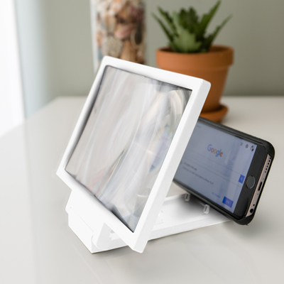 SUNTONE™ Mobile Phone Video Magnifier - Increase the size of your mobile phone viewing with this video magnifier.  Fold out screen measures 8.2